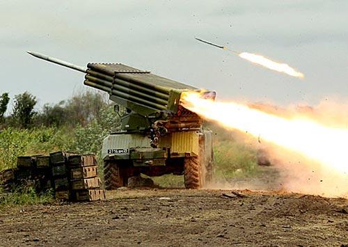БМ-21 «Град» ведет огонь по противнику. Источник: сайт Министерства обороны РФ