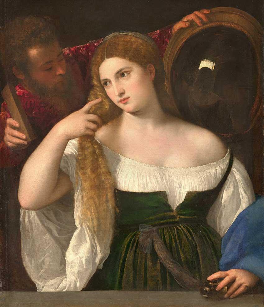 Тициан. «Женщина перед зеркалом»