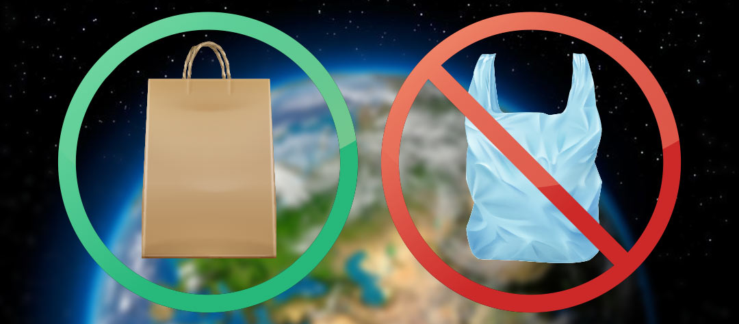 пластиковый пакет, бумажный пакет