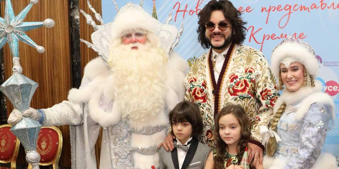 Филипп Киркоров сводил детей на Кремлевскую елку